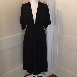 Reformation Deep V Midi Dress